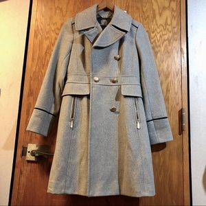 Vince Camuto Grey Double-breasted Peacoat